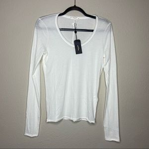 NWT RAG & BONE Gaia Long Sleeve White Top Small